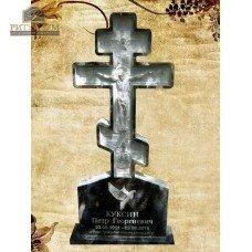 Памятник резной из гранита ЧПУ «Крест православный» — ritualum.ru